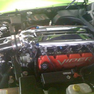 twin turbo viper engine from green viper