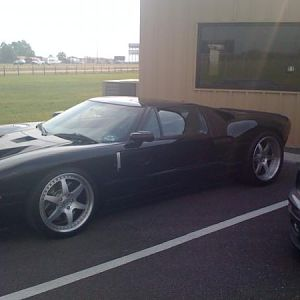 Blown, twin turbo Ford GT...This is John Hennessey's ride