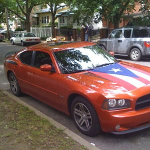 Charger with the PR flag