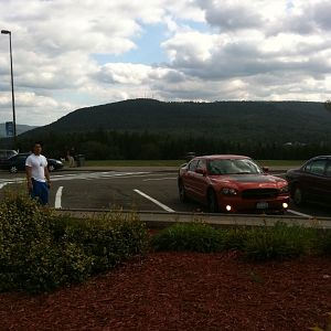 Charger in the mountains in upstate NY taking my bro back to Fort Drum