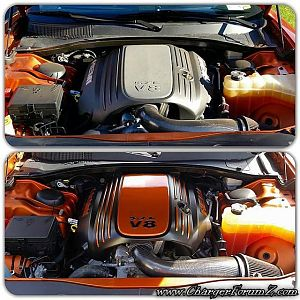 Toxic Orange Engine Bay